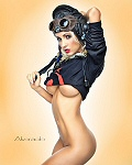 Robert Alvarado pinup photo of model April
