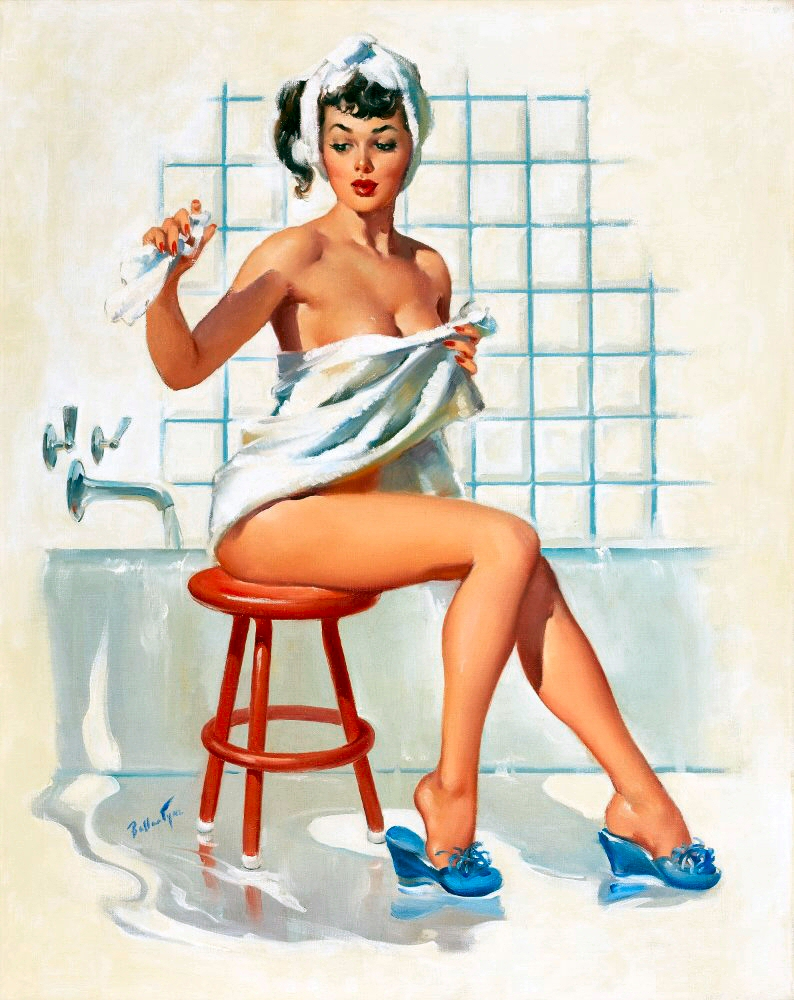 Vintage bathroom posters