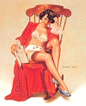 Vaughan Alden Bass pinup girl