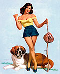 Vaughan Alden Bass pinup girl picture