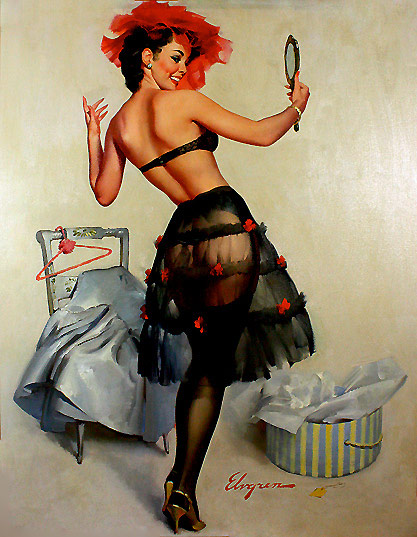 Gil Elvgren pin-up girl