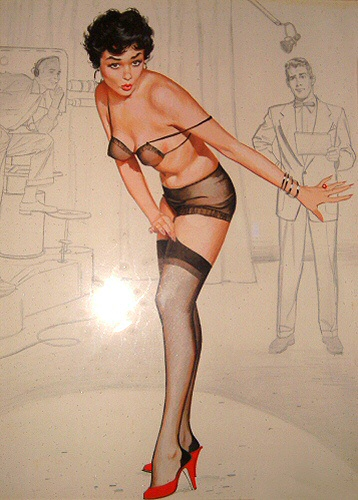 Who painted this pin-up girl?