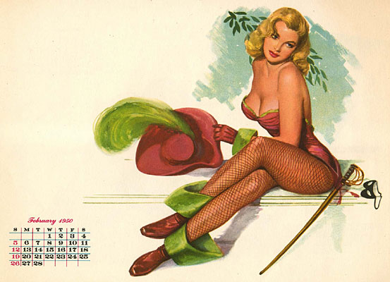 Al Moore pin-up calendar girl