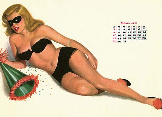 Al Moore pin-up calendar girl