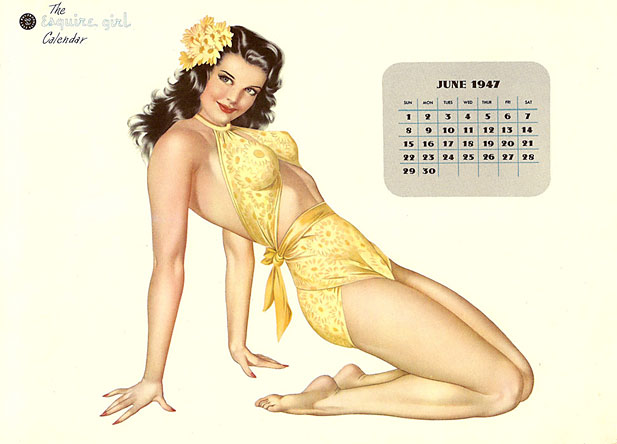 Alberto Vargas pin-up calendar girl