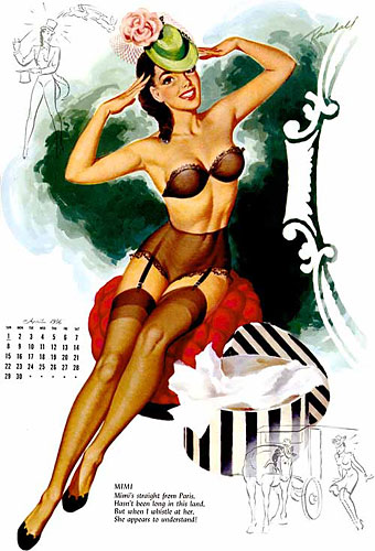Bill Randall pin-up calendar girl