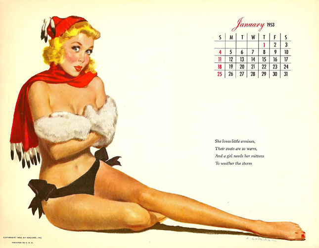 Ernest Chiriaka pinup calendar girl