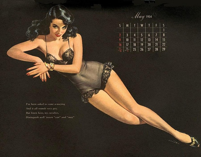 Ernest Chiriaka pin-up calendar girl