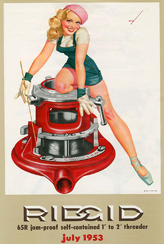 George Petty pinup calendar girl