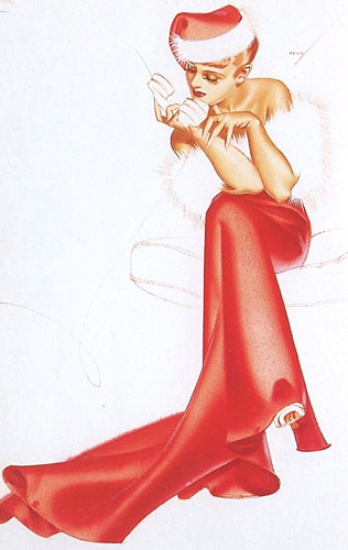George Petty Christmas pinup
