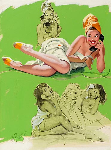Al Buell vintage pin-up artist