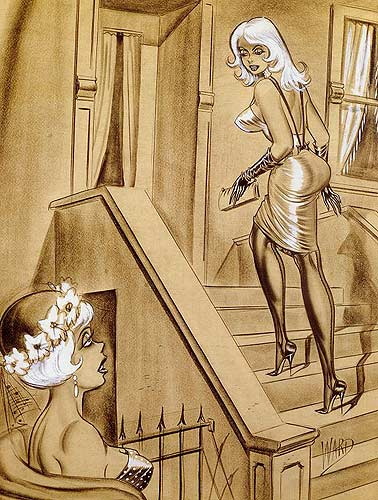 Bill Ward vintage pin-up cartoon artist