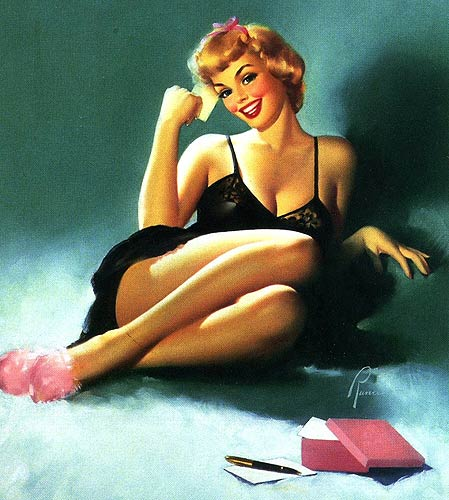 Edward Runci vintage pin-up artist
