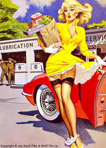 Jay Scott Pike contemporary pin-up artist