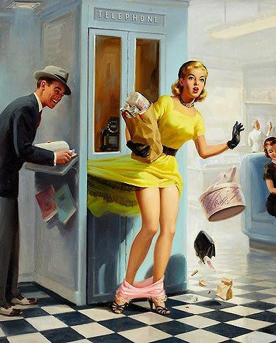 Art Frahm vintage pin-up artist