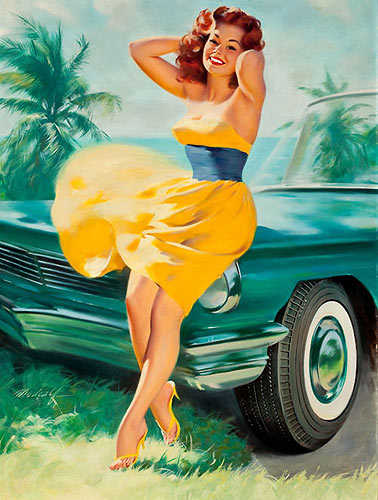 Bill Medcalf vintage pin-up artist