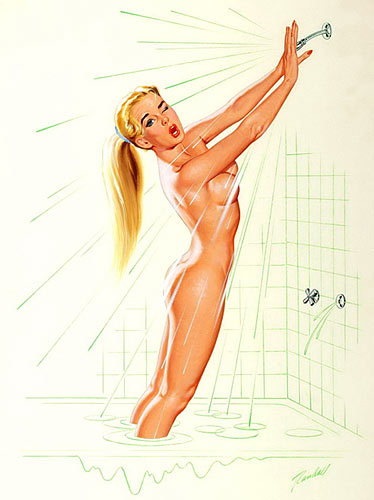 Bill Randall vintage pin-up artist