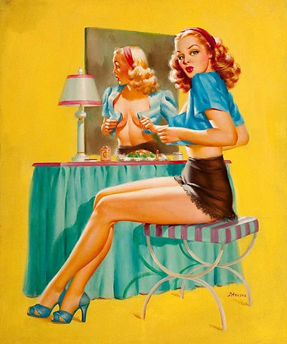Edward D'Ancona vintage pin-up artist