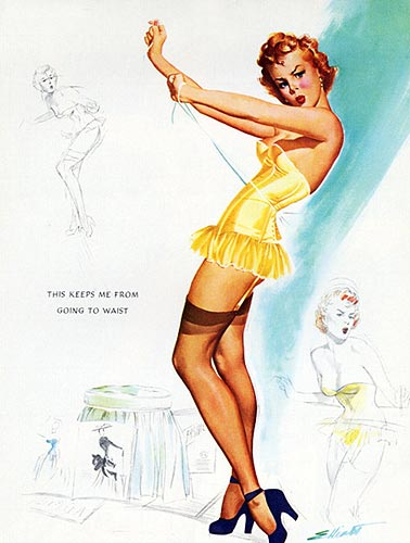 Freeman Elliot vintage pin-up artist