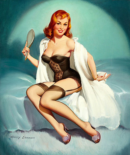 Harry Ekman vintage pin-up artist