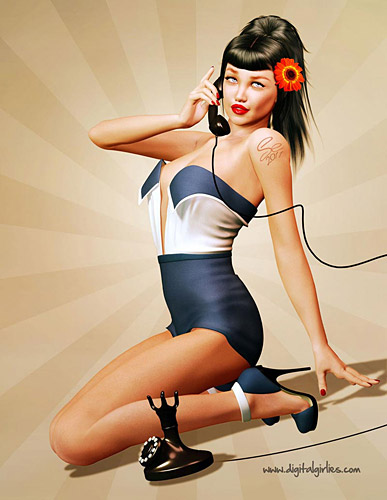 Sean Earley pinup artist