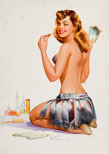 Ted Withers vintage pin-up artist