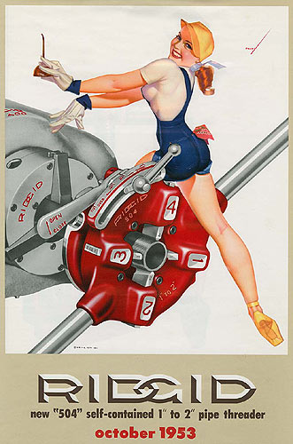 George Petty pin-up calendar girl