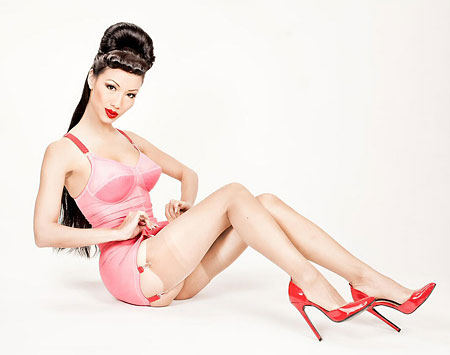 """Jade Vixen Bubblegum Erotic Pinup 1098"" by Gary Heller pinup photographer"