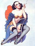 Enoch Bolles pinup girl