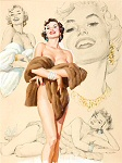 Al Buell pinup girl