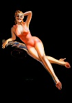 Billy De Vorss pinup girl