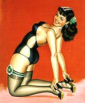 Peter Driben pinup girl