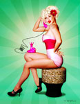 Sean Earley pinup girl art