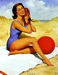 Harry Ekman pinup girl picture