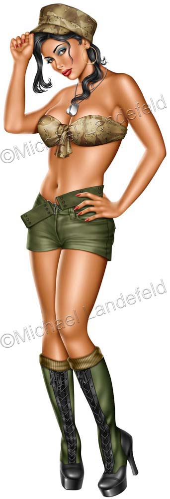Sexy army pin up girls
