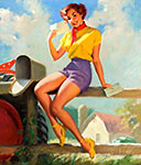 Bill Medcalf pinup girl