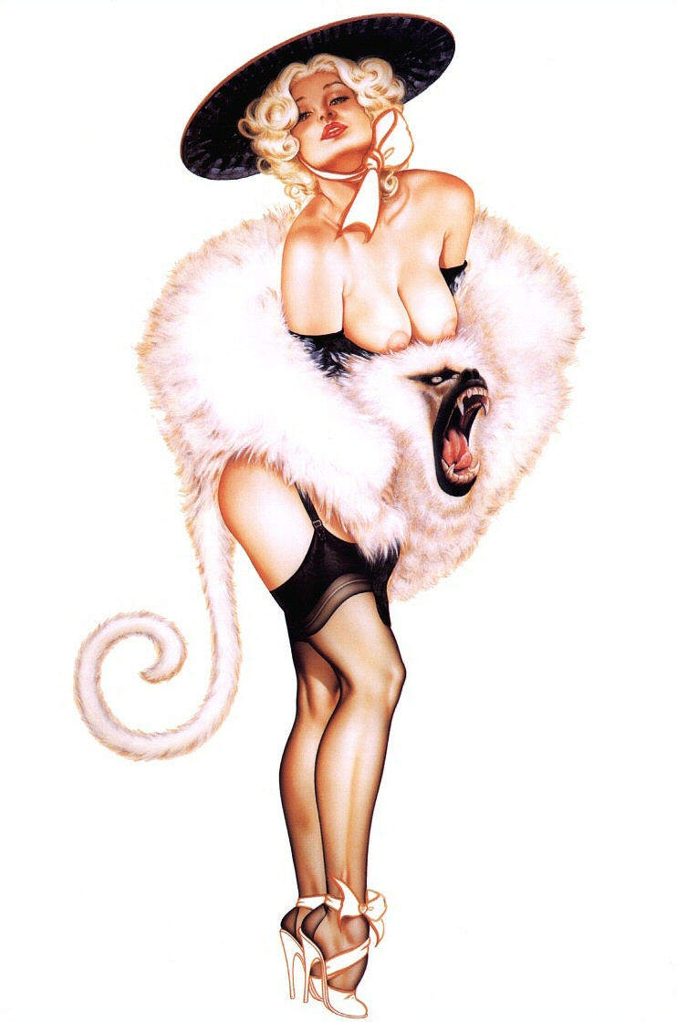 Piece erotic and pinup artists really