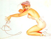 George Petty pinup painting