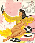 Bill Randall pinup girl