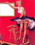 Robert Skemp pinup girl