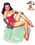 T N Thompson pinup girl