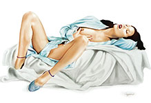 Tom Caggiano pinup girl