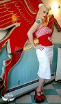 Viva Van Story pinup photo of model Barndy